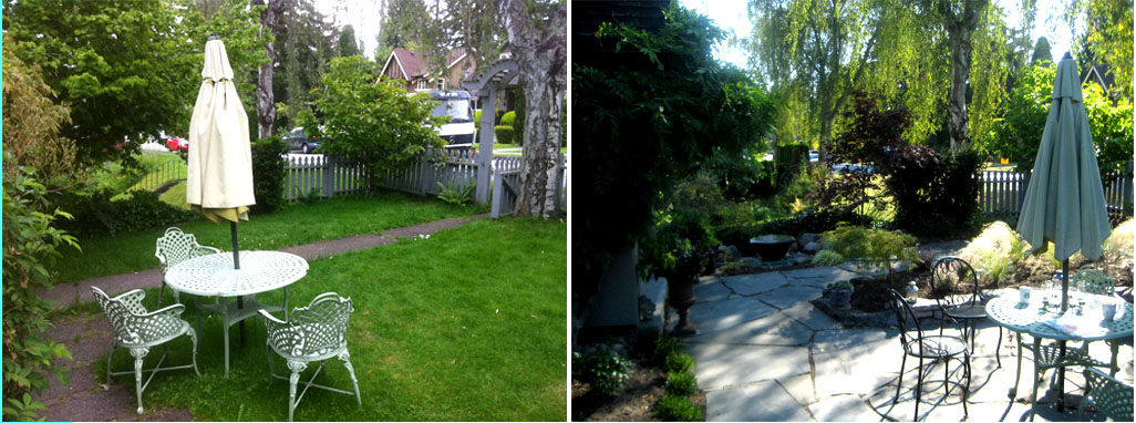 our - Garden Design Before And After