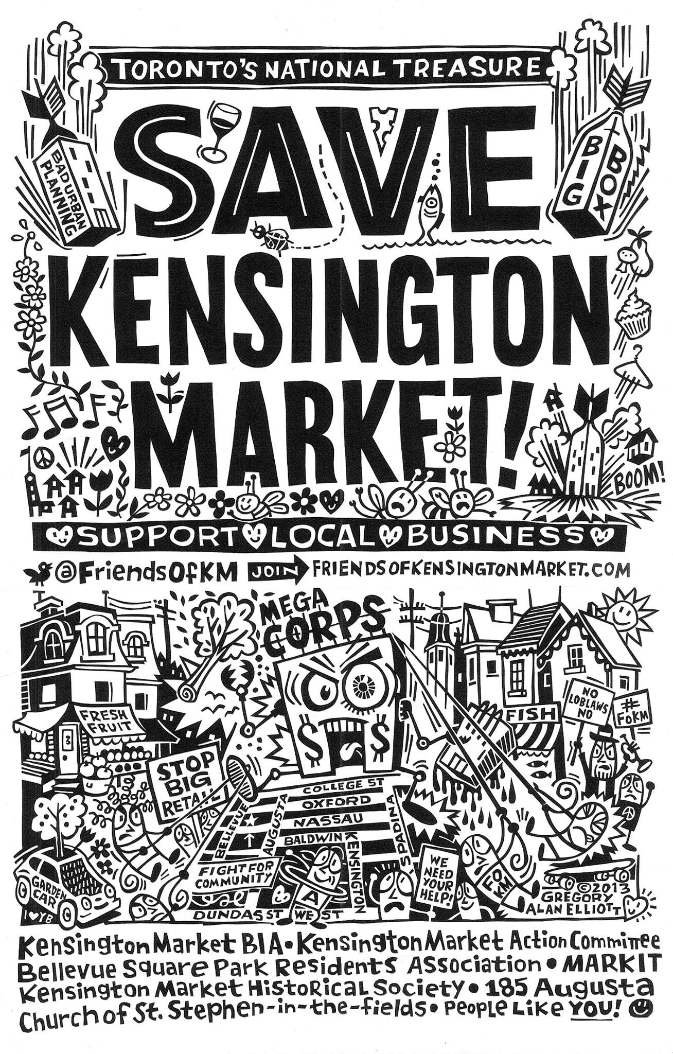 save kensingston poster