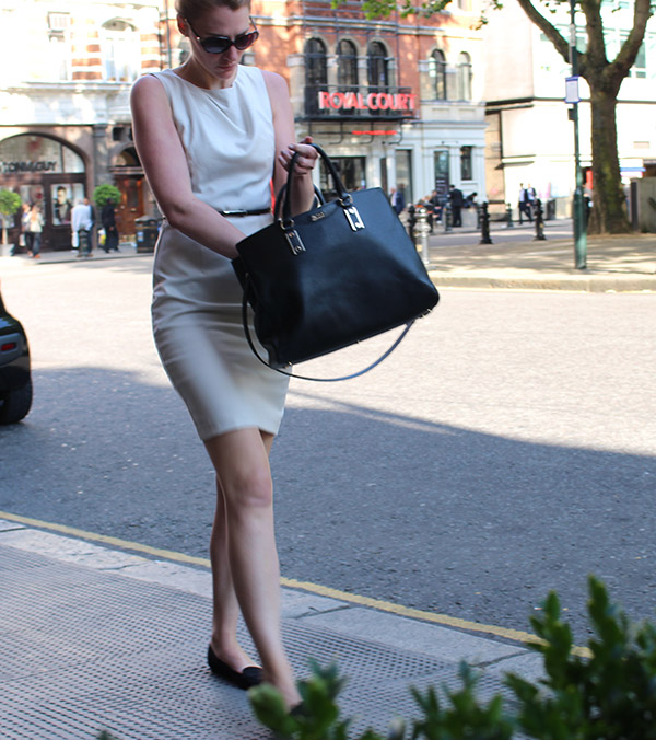 taupe dress in chesea