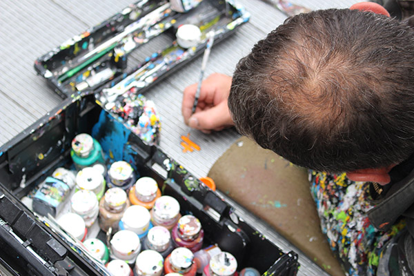 artist close up
