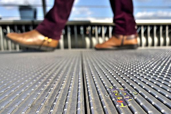 bridge art with boots