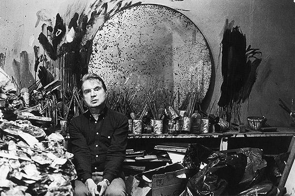Francis Bacon in his studio, 1985